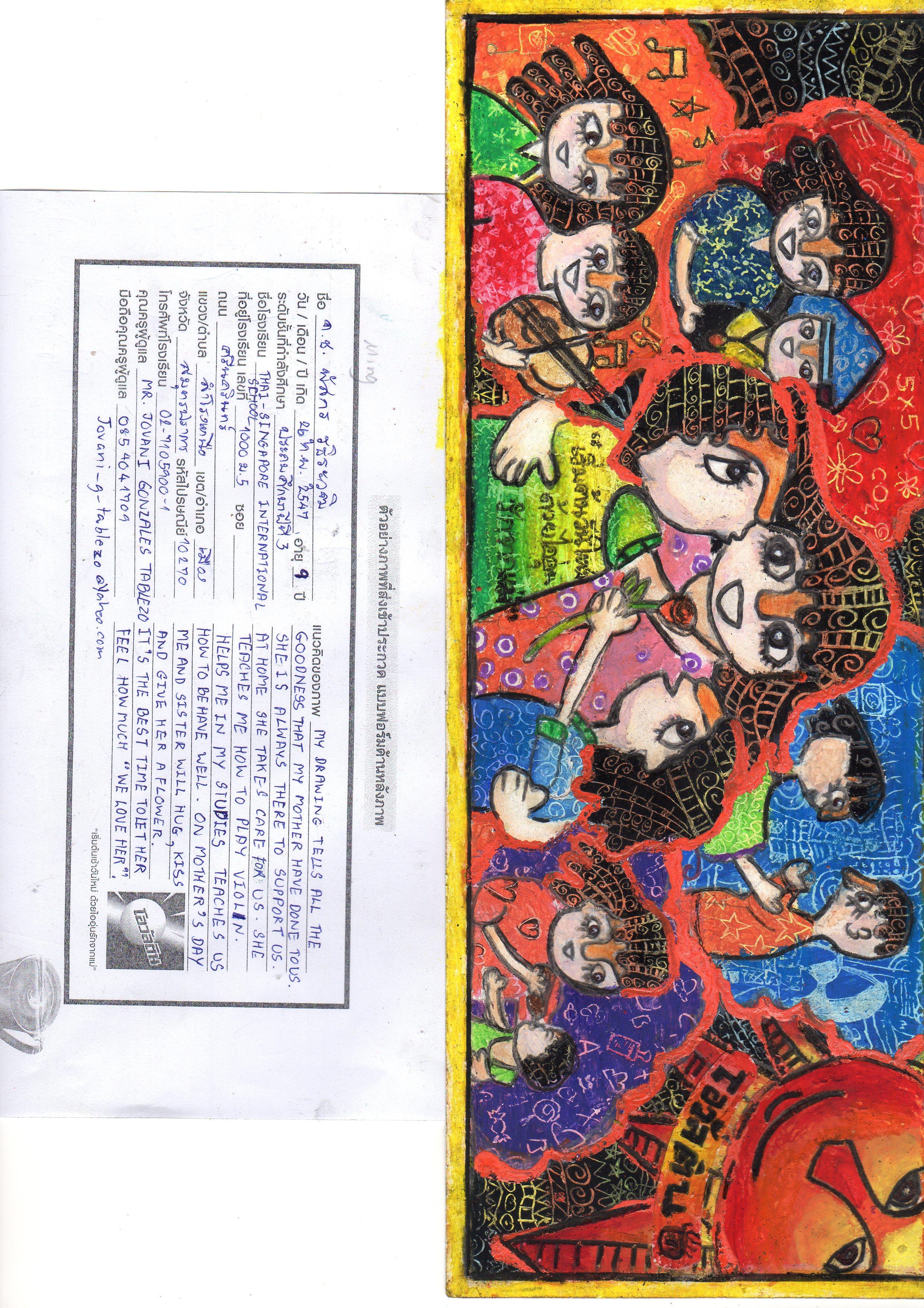 P4 Student Receives Art Certificate Thai Singapore International